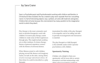Spontaneity With Children: Applications of Psychodrama that Enable Children to Express their Creativity,